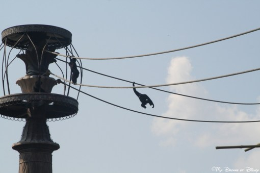 At Disney, even the monkeys get into the fun!