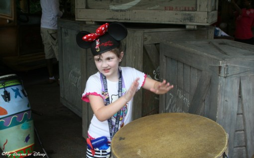 At the African Outpost, Sophie is marching to the beat of her own drum!