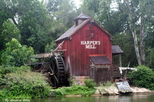 Harper's Mill at Tom Sawyer Island