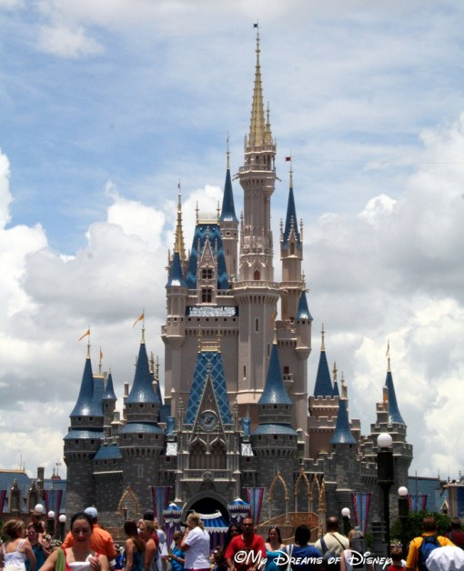 Standing at 190 feet, Cinderella Castle is the crown jewel of the Magic Kingdom!