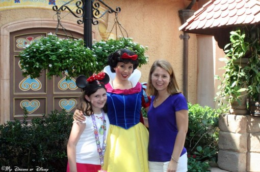 Sophie, Snow White, and Stephanie met in the Germany Pavilion on day one of the beginning of the Epcot International Food & Wine Festival, September 30, 2011.