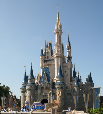 Who doesn't love seeing Cinderella Castle in the distance!