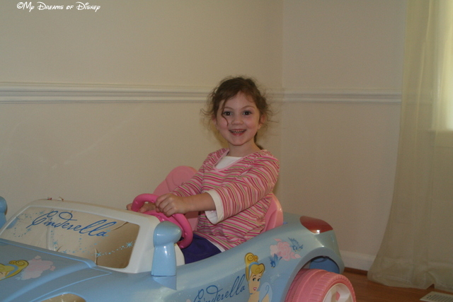 "...is posing for a ""school"" photo in your Cinderella Car..."