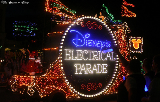 ...enjoying the Main Street Electrical Parade -- or any parade, for that matter -- on a nice night in the Magic Kingdom...