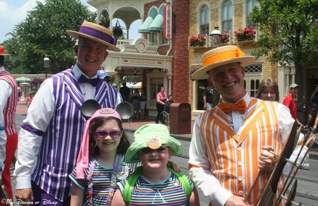 Main Street, U.S.A. and the Dapper Dans -- an incredibly patriotic American symbol!