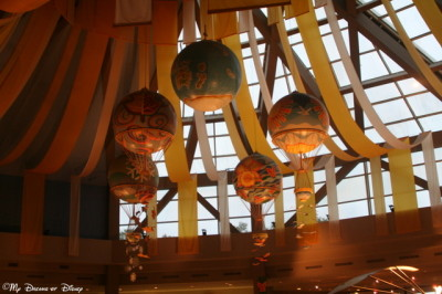 Part of the unique scenery inside the Land Pavilion.