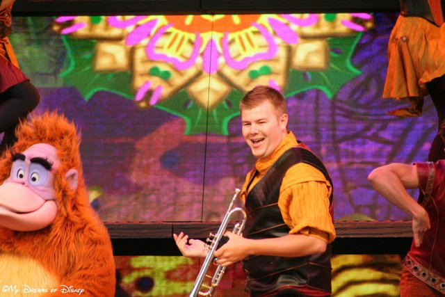 The Jungle Book makes an appearance, but I loved the enthusiasm of the trumpet player!