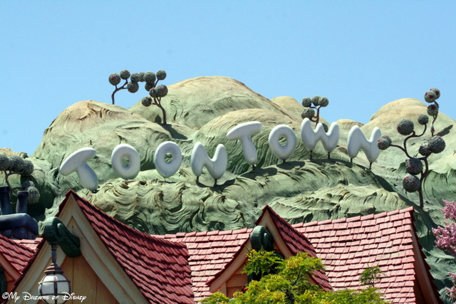 Over at Disneyland, one of our favorite lands was Mickey's Toontown!  It was incredible!