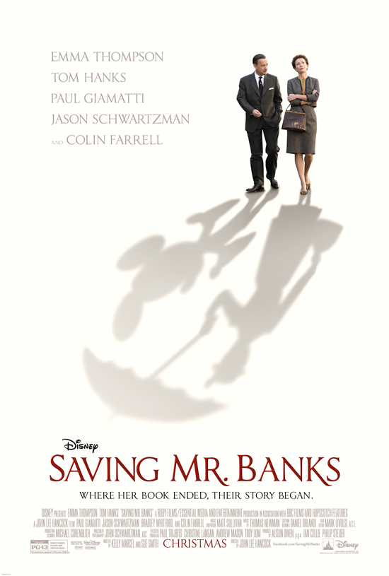 Disney's Saving Mr. Banks...coming to theaters in December, 2013!