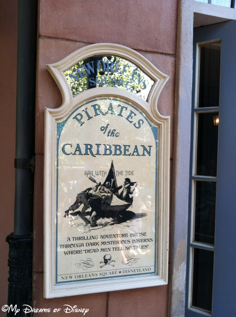 The Pirates of the Caribbean is our favorite ride!