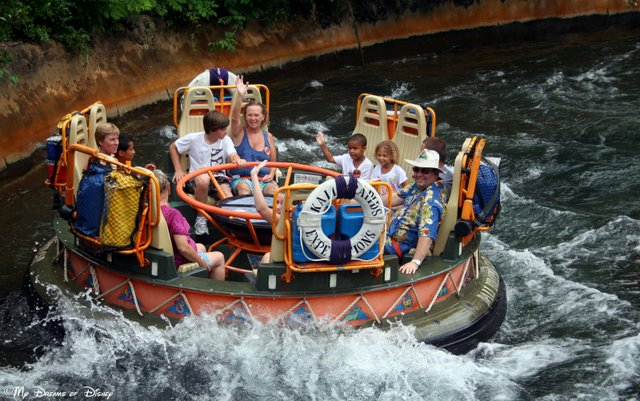 For a very hot park, nothing is better for cooling off than Kali River Rapids!