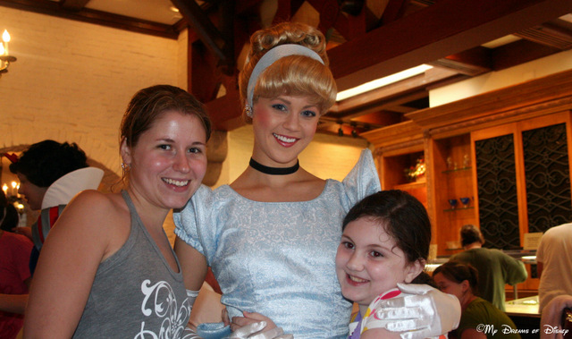 Here are Sophie, Stephanie, and Cinderella at Princess Storybook Dining