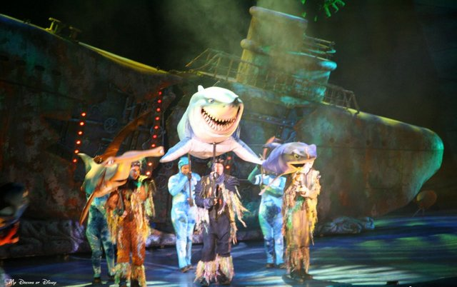 Finding Nemo: The Musical is my favorite show at Animal Kingdom.  I love the way the story is brought to life!