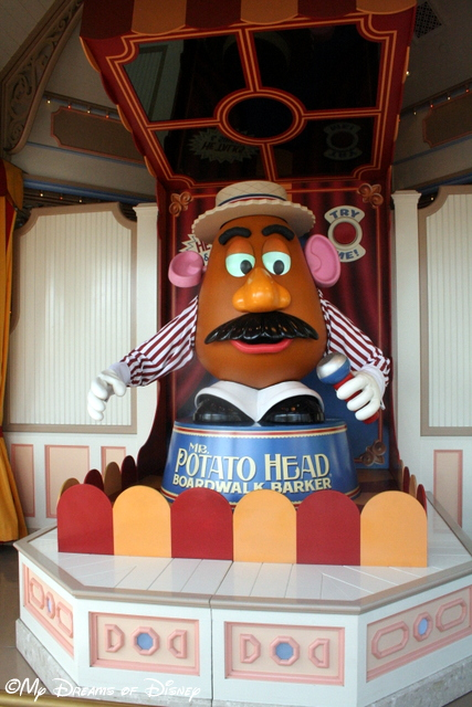 Mr. Potatohead beckons you on towards the games!