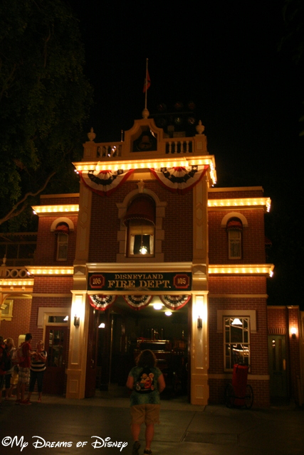 The Light on in the 2nd Floor is the apartment that Walt Disney would stay at.