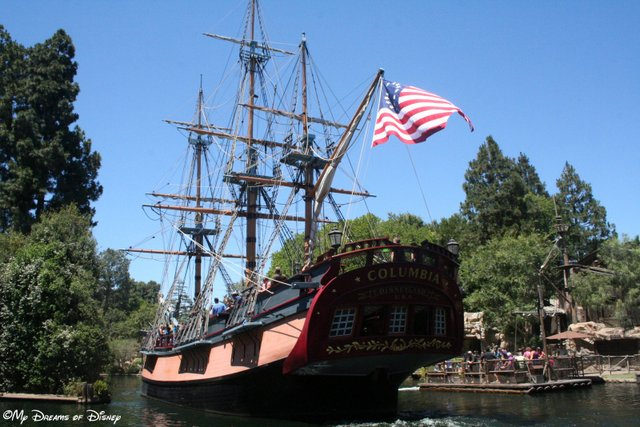 The Sailing Ship Columbia is America's first ship to circumnavigate the globe!
