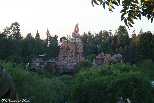 This picture shows Big Thunder Mountain Railroad, located in Frontierland