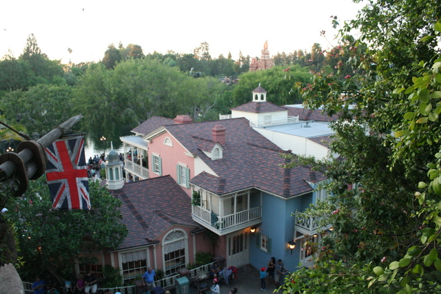 This picture was taken from Tarzan's Treehouse of the shops