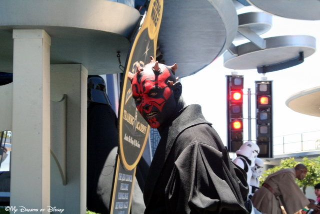 Darth Maul keeps watch at the Jedi Training Academy!
