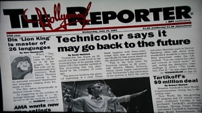 Technicolor Newspaper Article