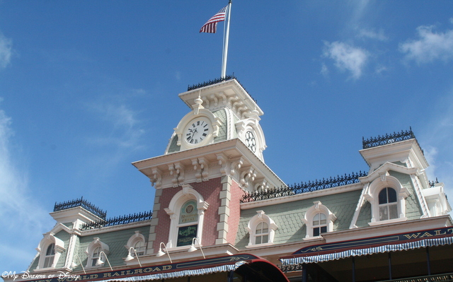 The Walt Disney World Railroad station at Main Street, U.S.A.