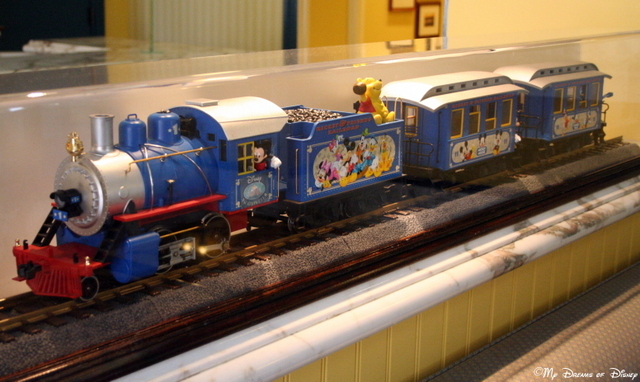 The Mickey & Friends Railroad located at the DVC Welcome Center at Saratoga Springs!
