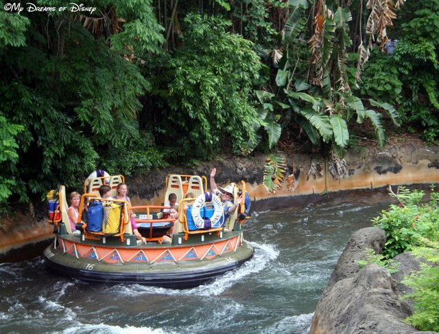 Don't think about Kali River Rapids on a day like today at Walt Disney World!