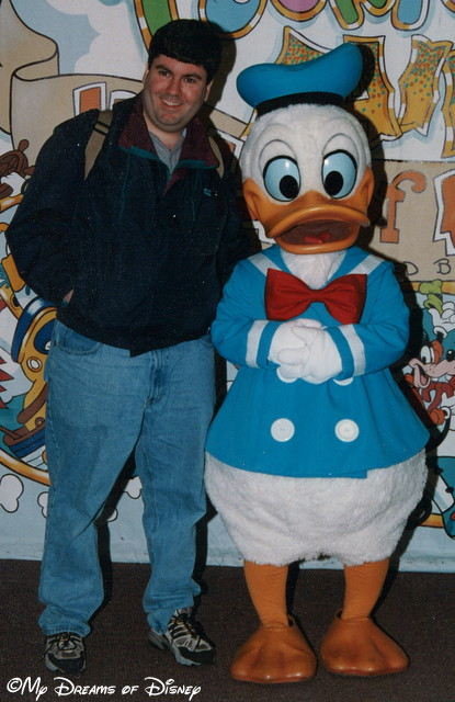 At Mickey's Toontown Fair, I had my picture with Donald Duck!