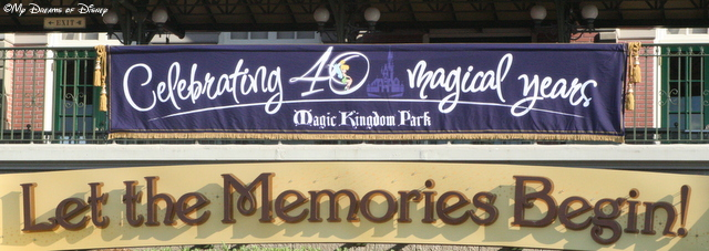When I think of Disney History, I think back to the 40th Anniversary celebration!
