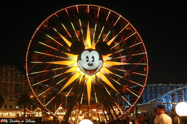 Located in Paradise Pier, Mickey's Fun Wheel is one of the iconic structures at Disney's California Adventure Park!