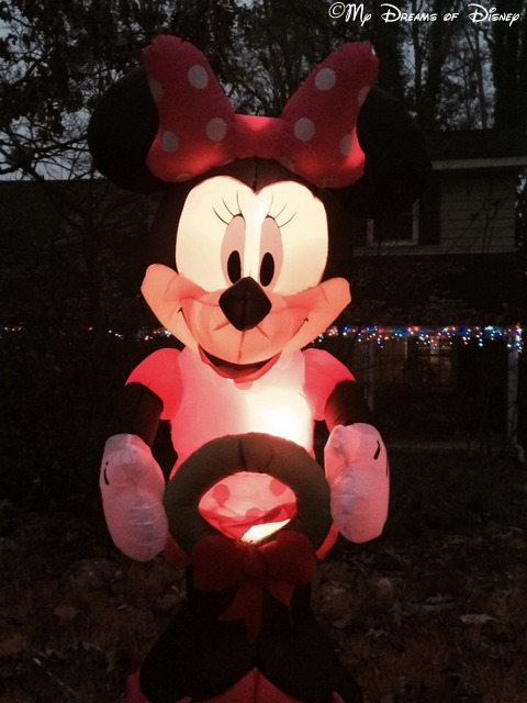 Minnie adorns our front yard this Christmas!