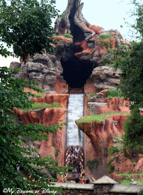The 52' Drop from the top of Splash Mountain!