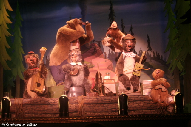Country Bear Jamboree is a great show, rain or shine!
