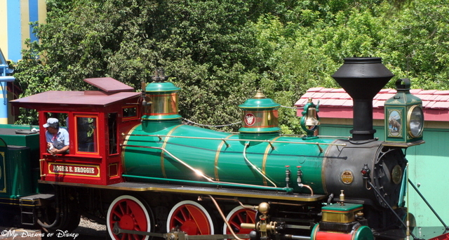 The Roger Broggie locomotive is named after the Imagineer that helped Walt with the railroad!