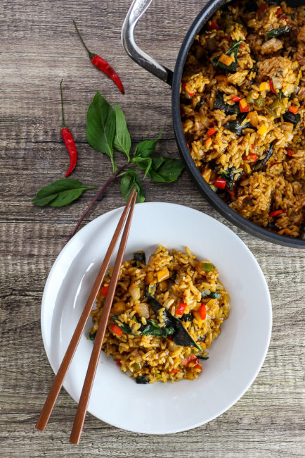 Vegetarian Thai Basil Fried Rice