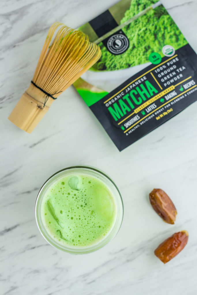 Homemade Healthy Matcha latte - cold