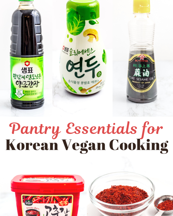 Pantry essentials for Korean vegan cooking