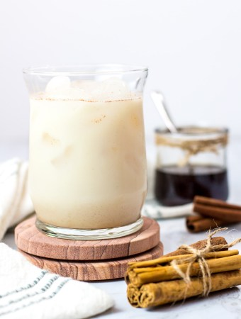 quick non-dairy horchata inspired drink