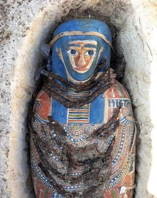 Several Mummies Discovered by Egyptian Archaeologist  in Dahshur, South of Cairo 2