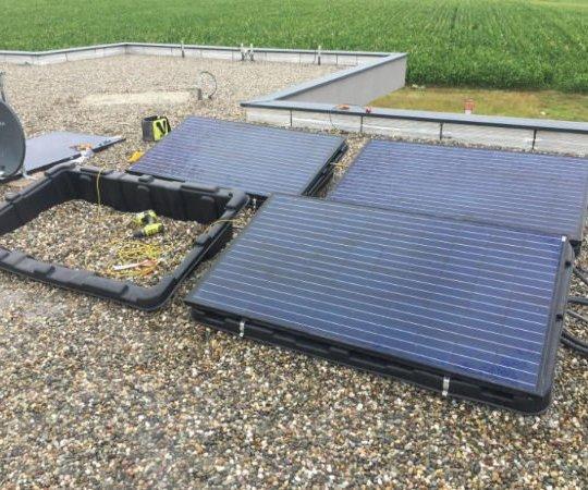 kit photovoltaique toiture plate