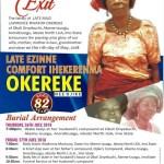 To Final Resting Place:  Madam Ezinne Okereke mother of NSE Orlu Chairman