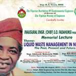 Engineers Set to Honour iconic Engineer Samuel Fadahunsi with a memorial Lecture in Lagos