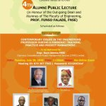 UNILAG Faculty of Engineering Alumni Sets for  4th Alumni Lecture , in honour of the Outgoing  Dean,  Prof Funso Falade. (Invitation Included))