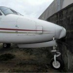 Plane crashes into a fence at Lagos Airport