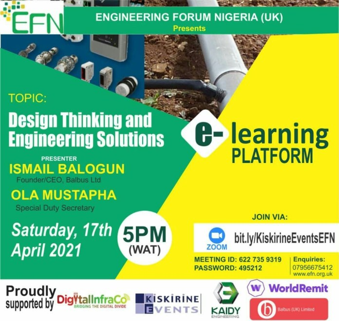 EFN PRESENTS E-LEARNING PLATFORM ON SATURDAY 17th April 2021