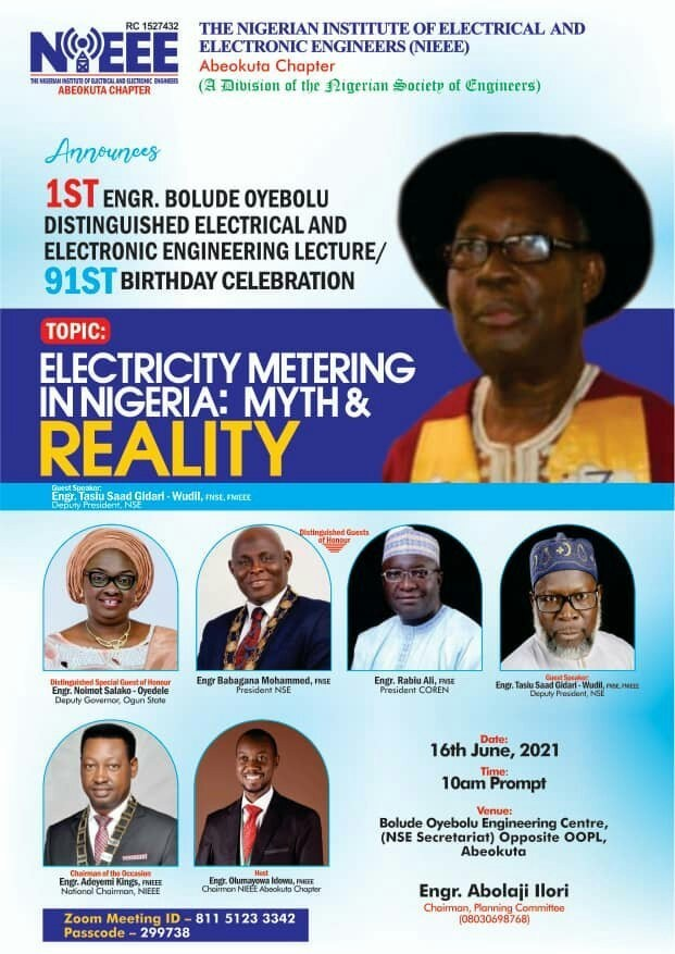 Electrical Engineers set to honour Pa Bolude Oyebolu, former President of NSE as he marks 91st birthday