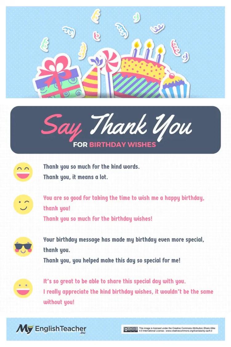 How To Say Thank You For Birthday Wishes Myenglishteacher Eu Blog