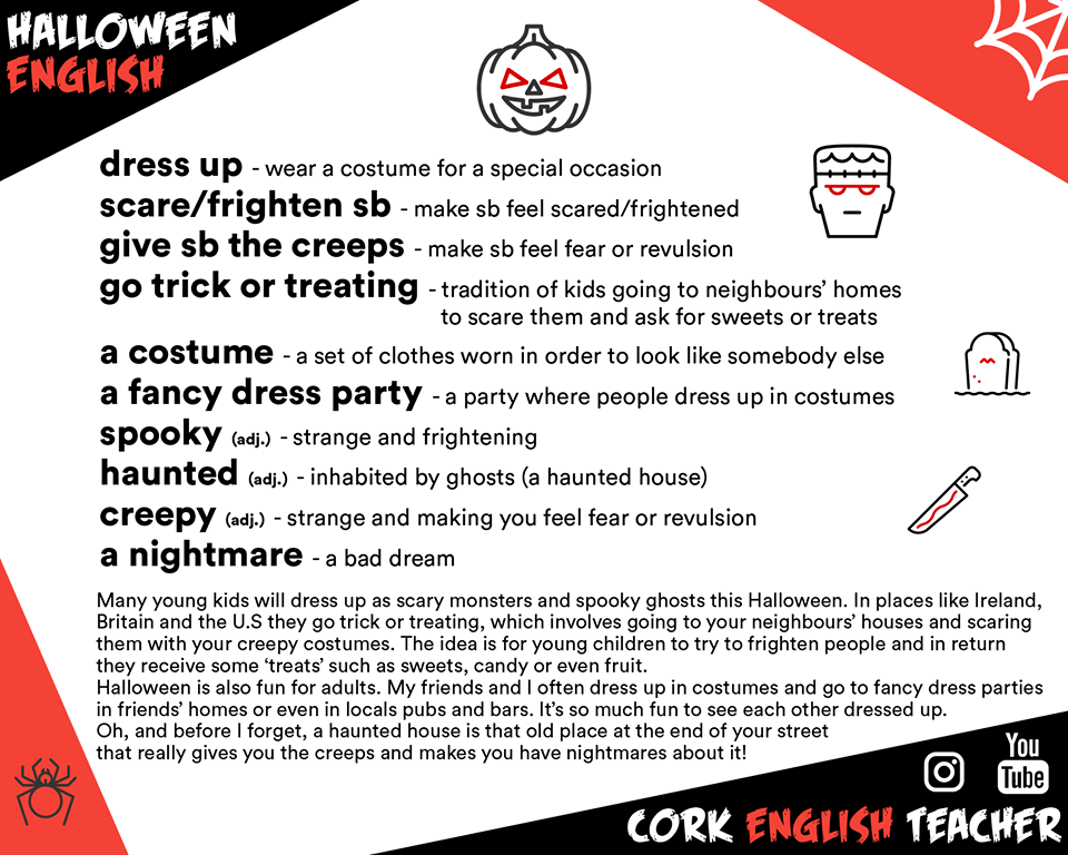 halloween vocabulary picture