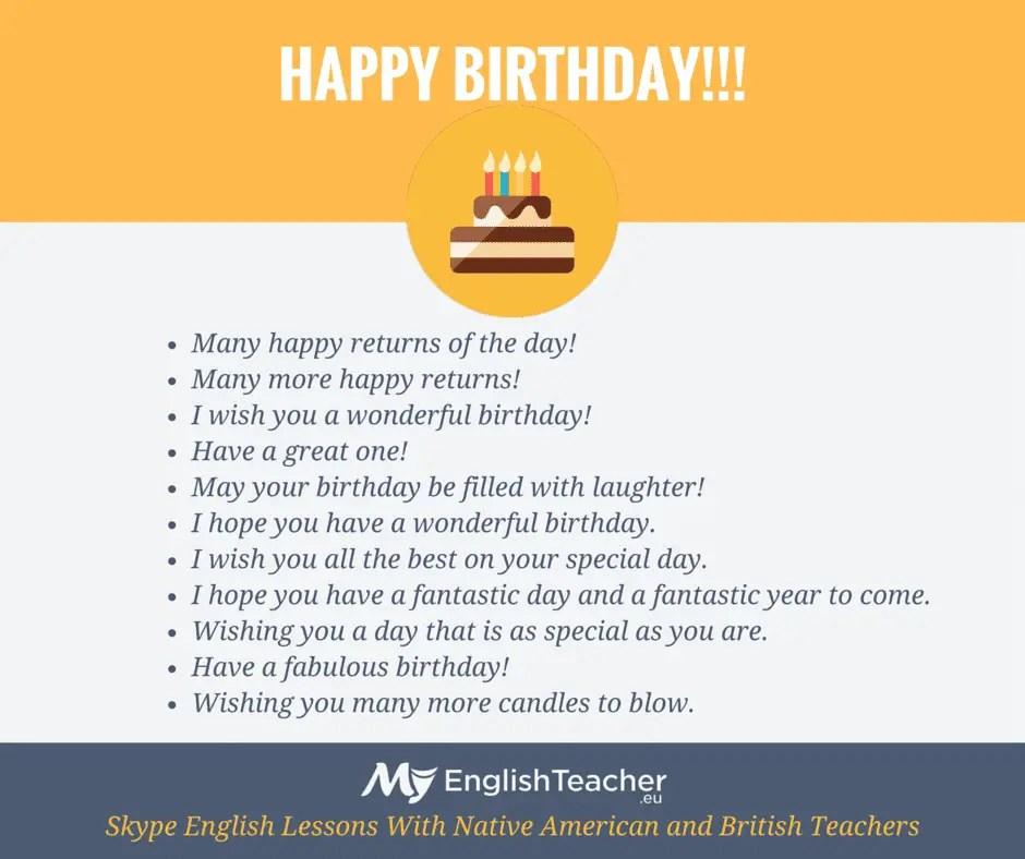 40 Ways To Say Happy Birthday