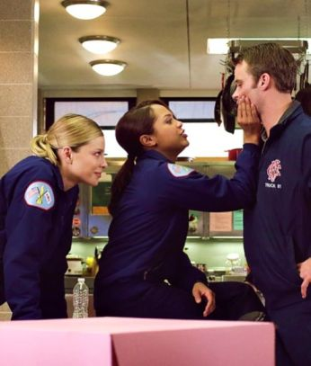 with Lauren German (Leslie Shay) and Jesse Spencer (Matt Casey)